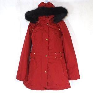 Susan Graver Hooded Parka Jacket Coat Size XXS